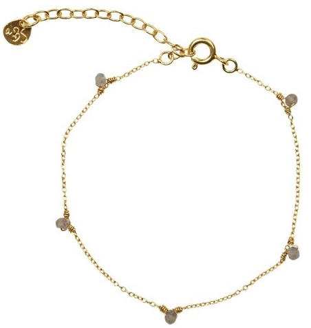 Armband Mini Labradoriet sterling Gold-1