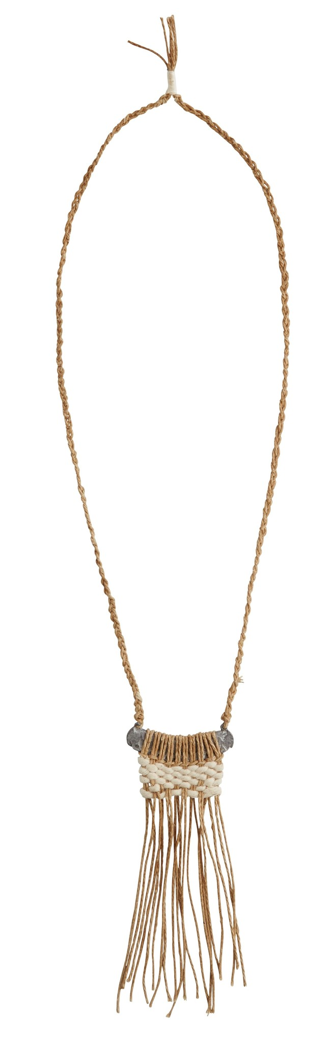 Ketting with fringles 44cm Natural-1
