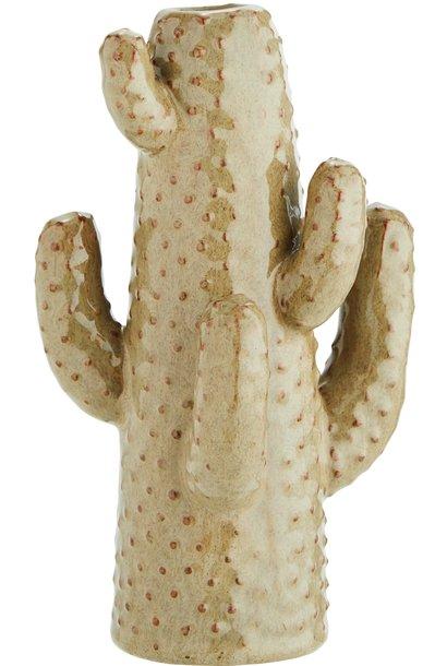 Vaas cactus 11x12cm Beige