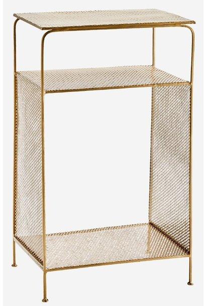 Kast Standing iron shelf 41x30x70cm Gold