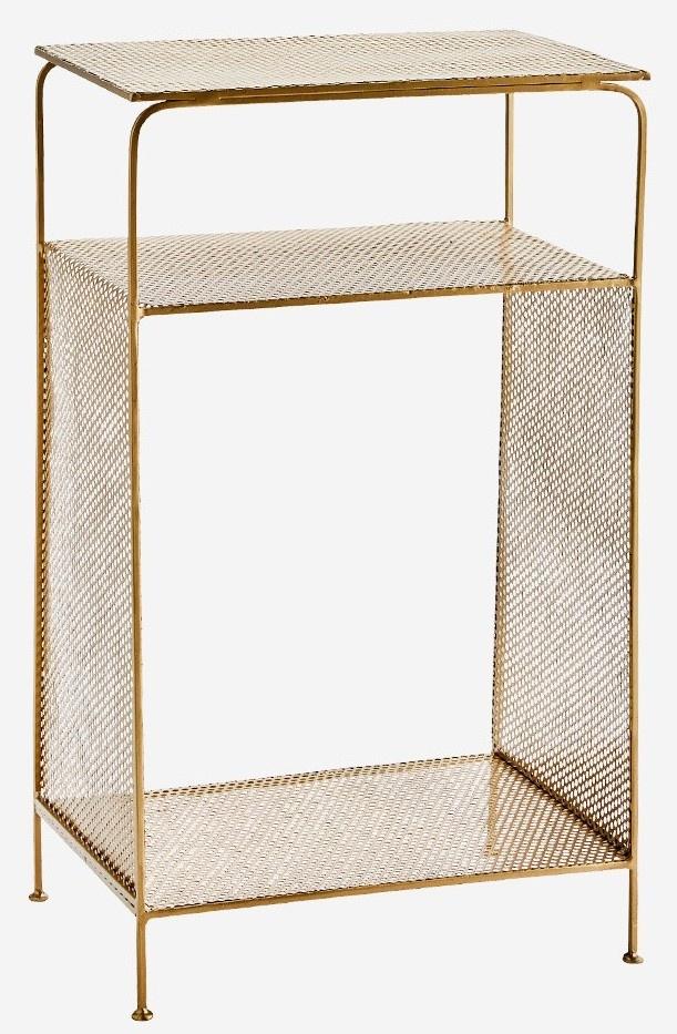 Kast Standing iron shelf 41x30x70cm Gold-1
