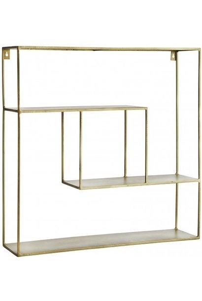 Wandrek Quadratic shelf iron 61x61x15cm Gold