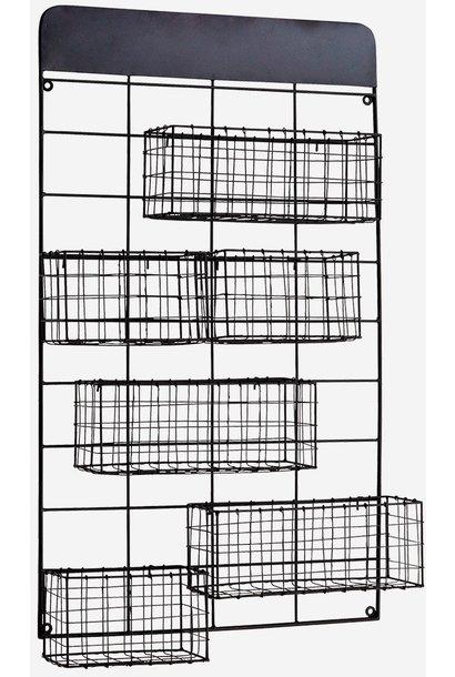 Wandrek baskets 46 x11x77cm  Black