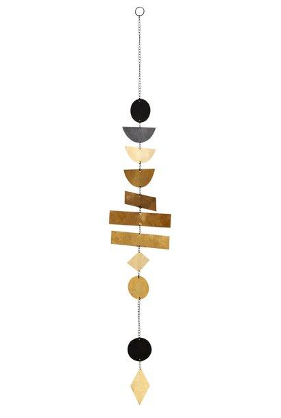 Hangdecoratie metal 65cm Black