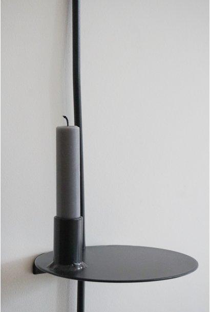 Wandkaars de lange H1.50xØ15cm Zwart