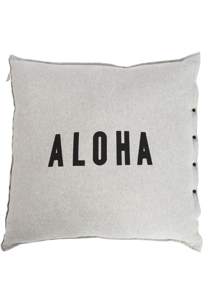 Kussenhoes Aloha melee 65x65cmLight Grey