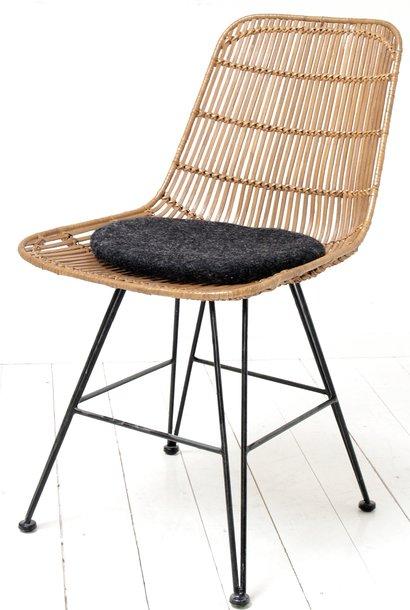 Kussen felt seat 35x4cm Charcoal