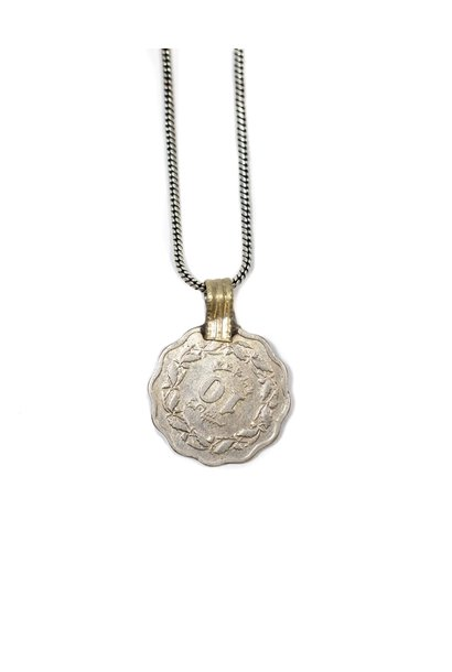 Ketting Rose Coin 50cm Silver