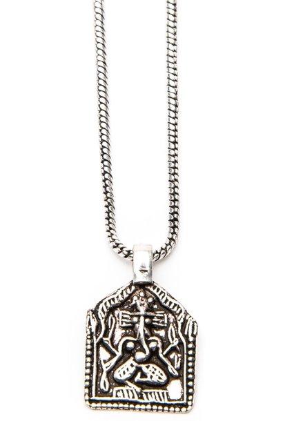 Ketting Ganesh 50cm Silver