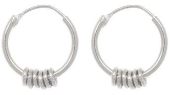 Oorbellen PER PAAR Multi Ring Hoop Sterling Silver-1