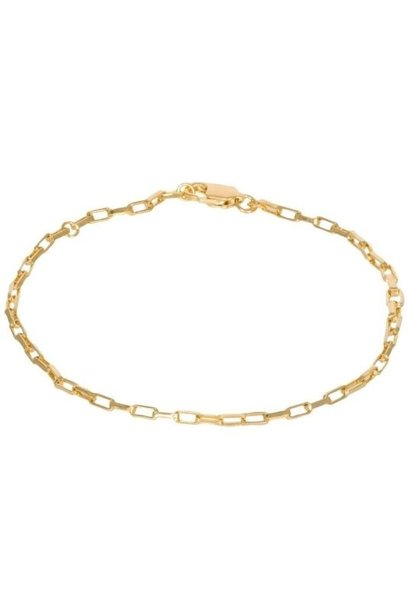 Armband Long Link Bracelet Gold Plated