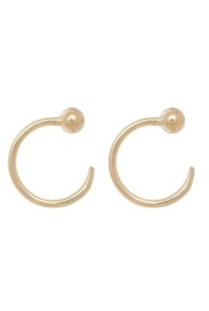 Oorbellen PER PAAR Ball Earhooks 10mm Gold Plated