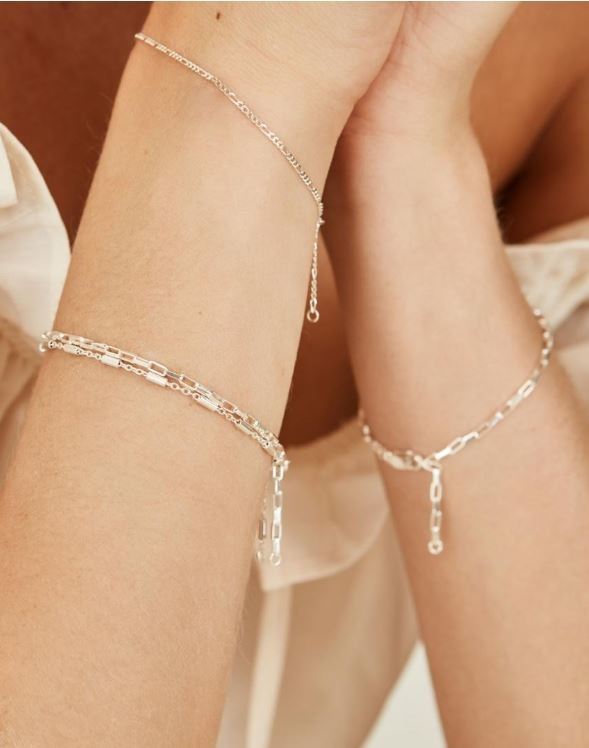 Armband Long Link 18cm Sterling Silver-2