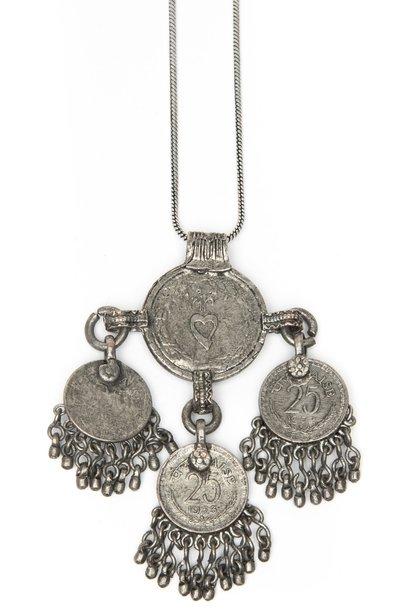 Ketting Raelyn coin 80cm Silver