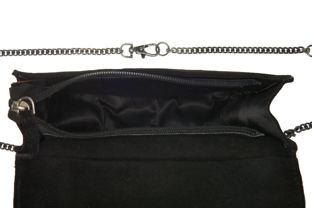 Tas Emilie Chain Suede 10x16cm Black-3