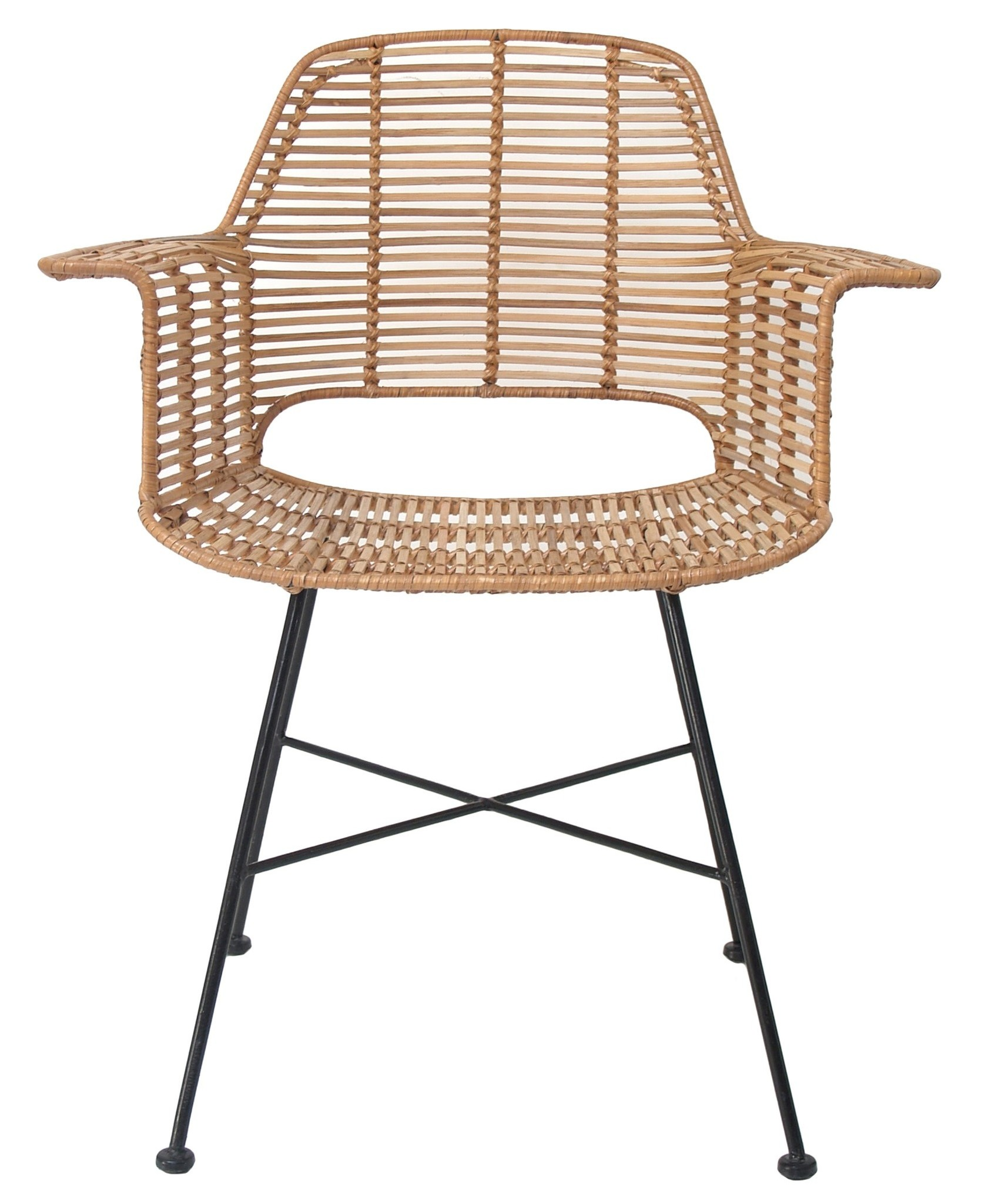 Stoel rattan tub chair 67x55x83cm Natural-1