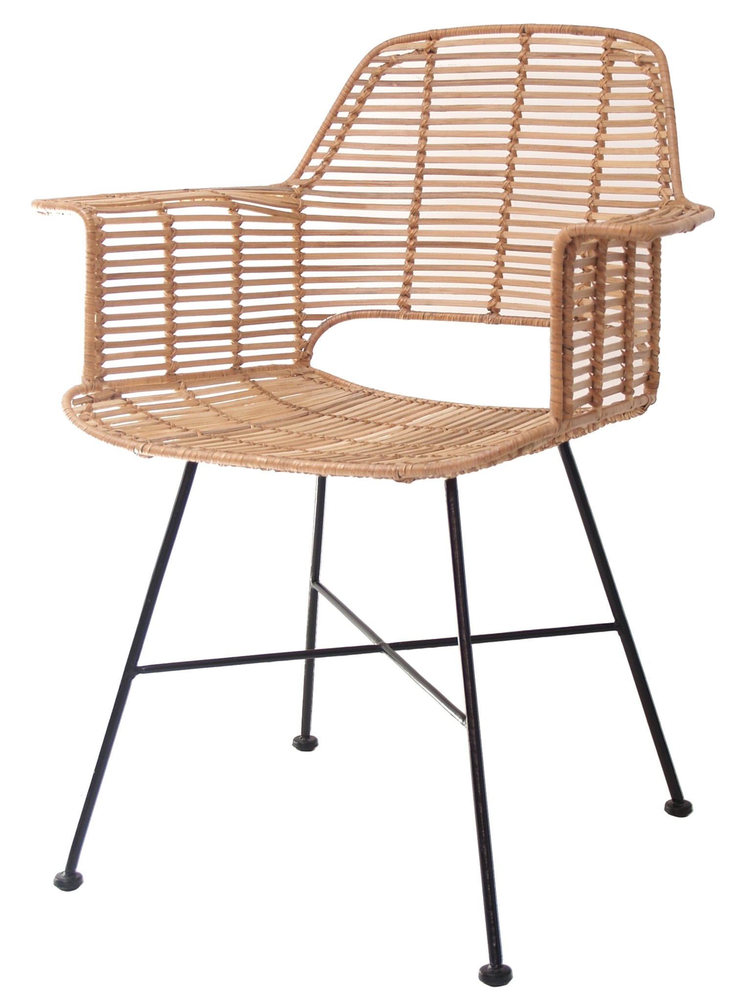Stoel rattan tub chair 67x55x83cm Natural-3