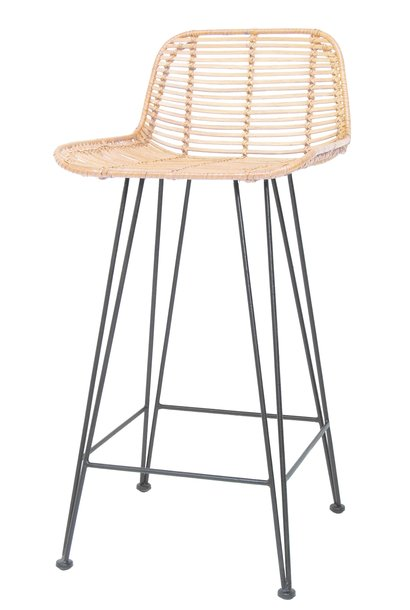 Barstoel rattan bar stool 42x47x89cm Natural