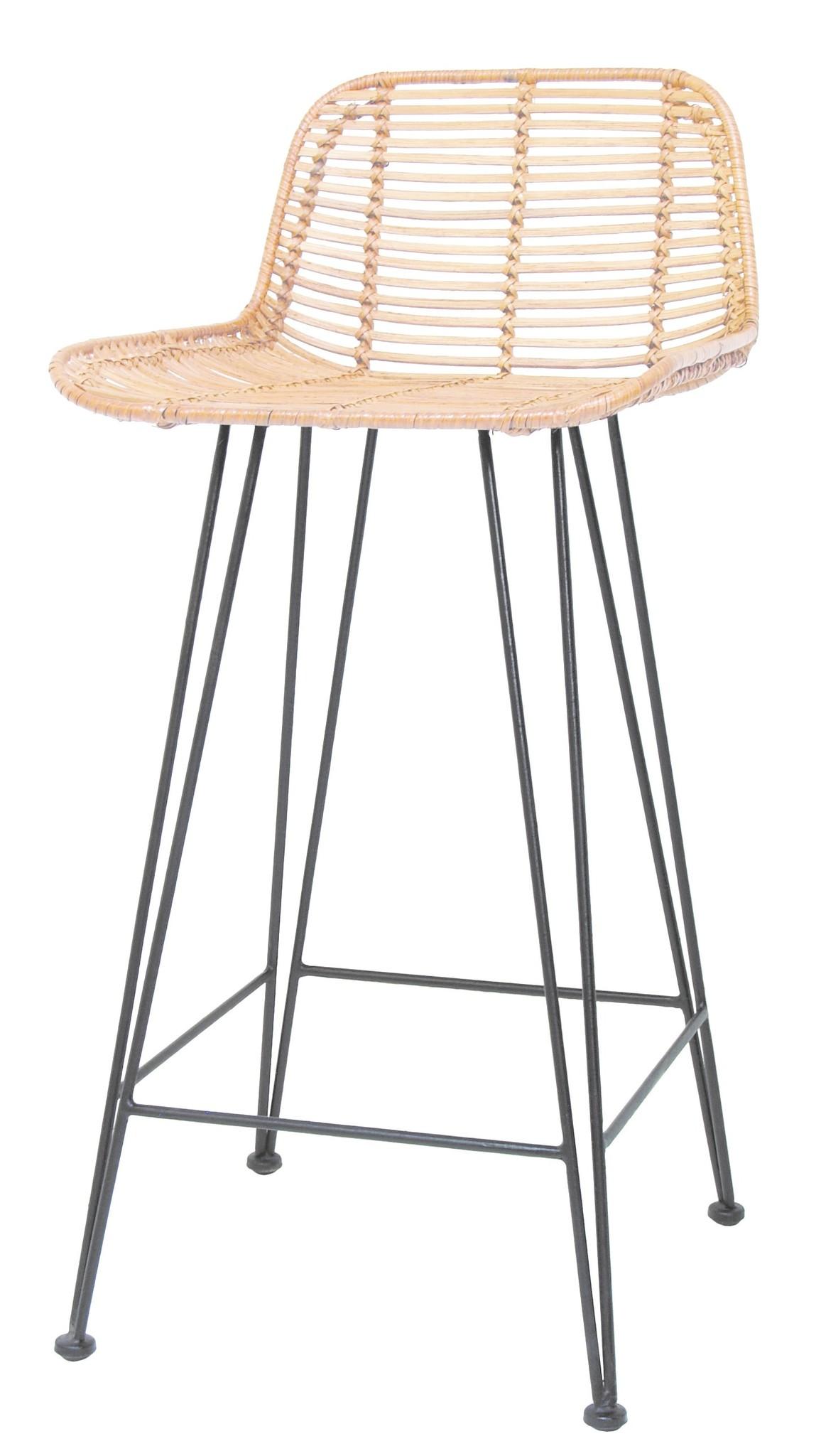 Barstoel rattan bar stool 42x47x89cm Natural-1