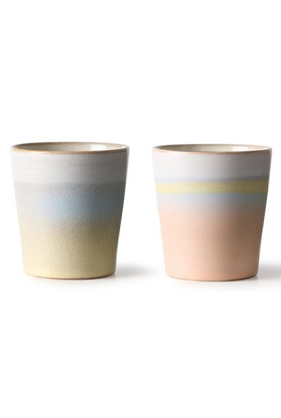 Kop set of 2 Suites Special Ceramic 70's horizon