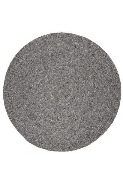 Vloerkleed Pebble round Charcoal Ø225cm