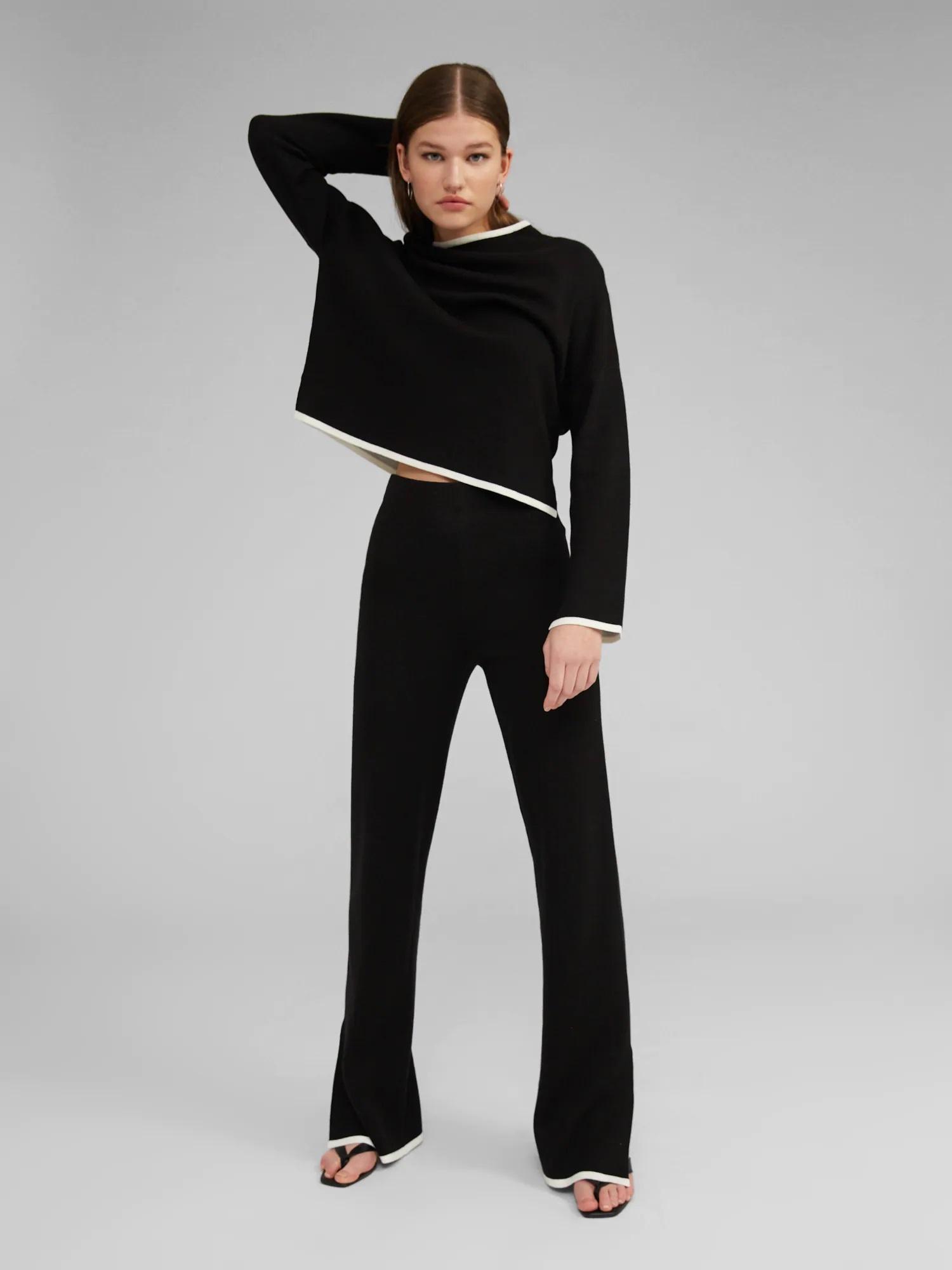 Broek Maxima knit Black-4