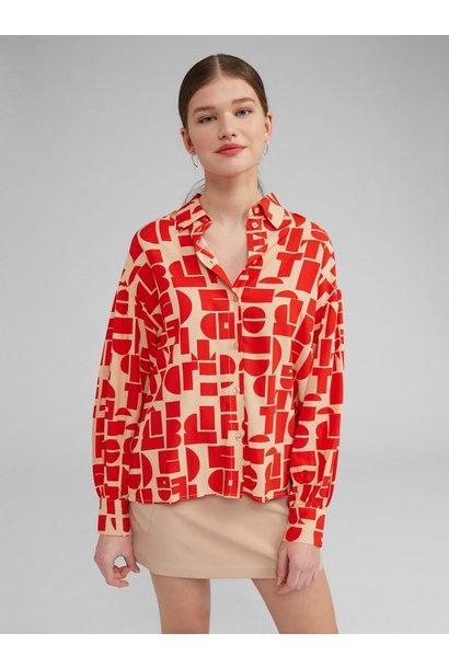 Blouse Emina print Red