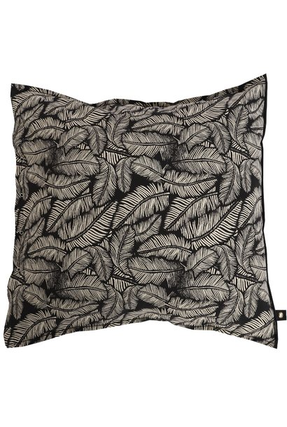 Kussenhoes leaf 65x65cm Black