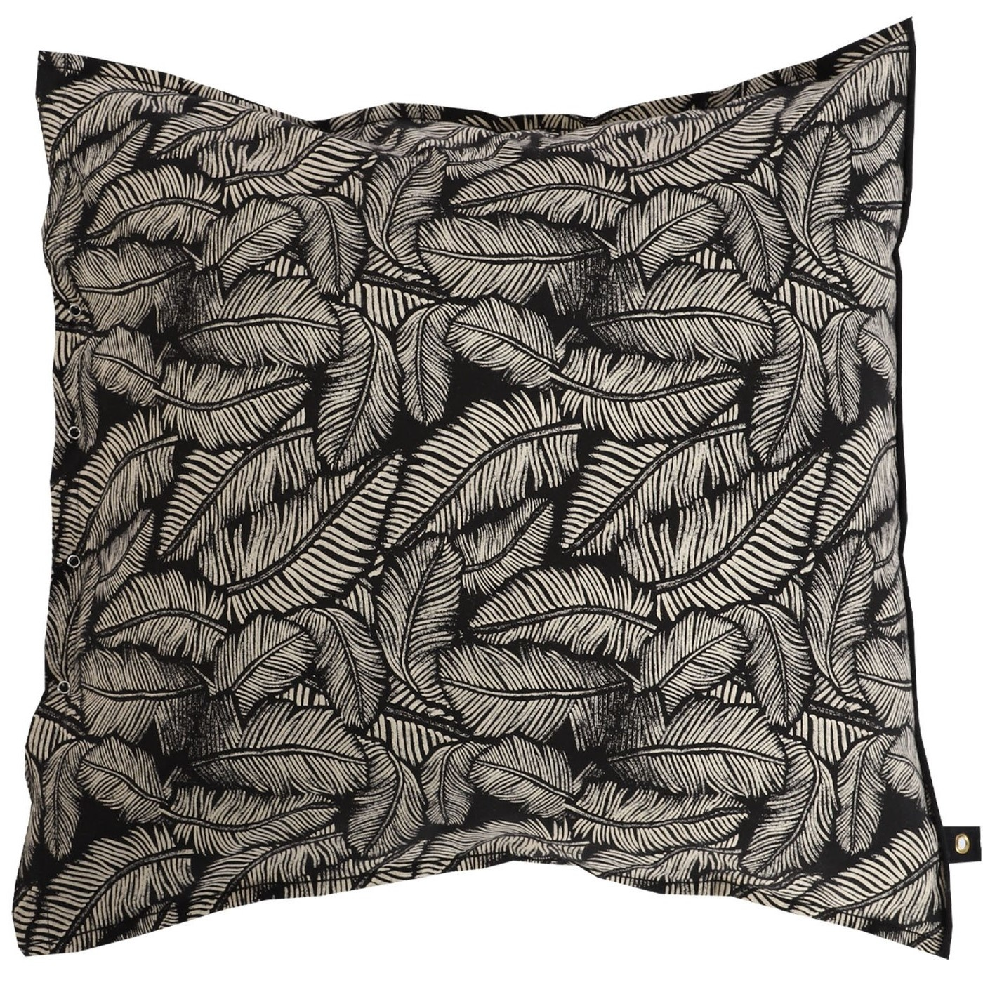 Kussenhoes leaf 65x65cm Black-1