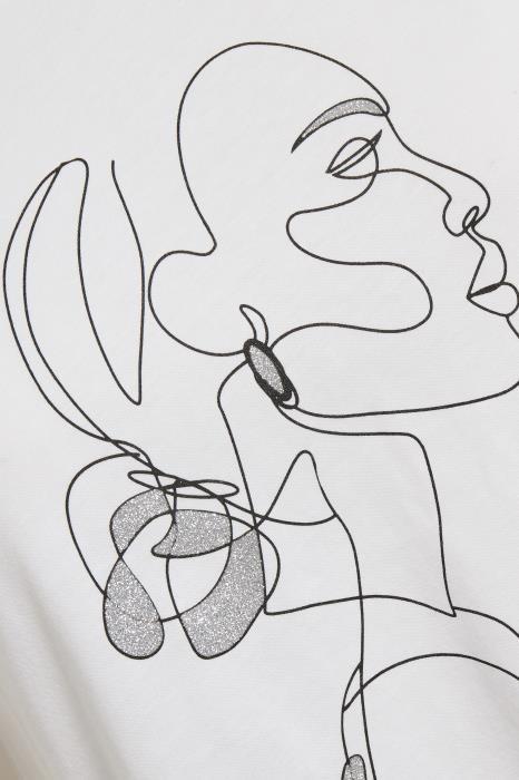T-shirt KAfarrie Optical White-3