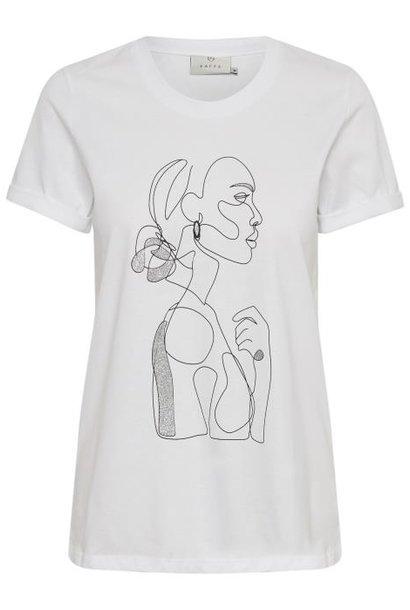T-shirt KAfarrie Optical White