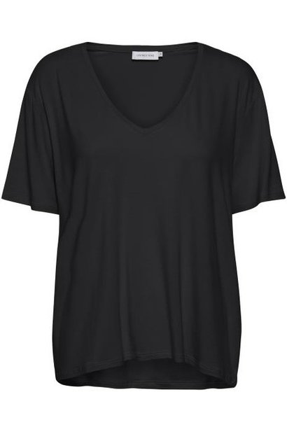 T-shirt LanieLN V-neck Pitch Black