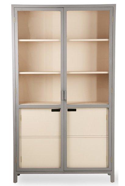 Kast display cabinet 115x40x200cm Grey Nude