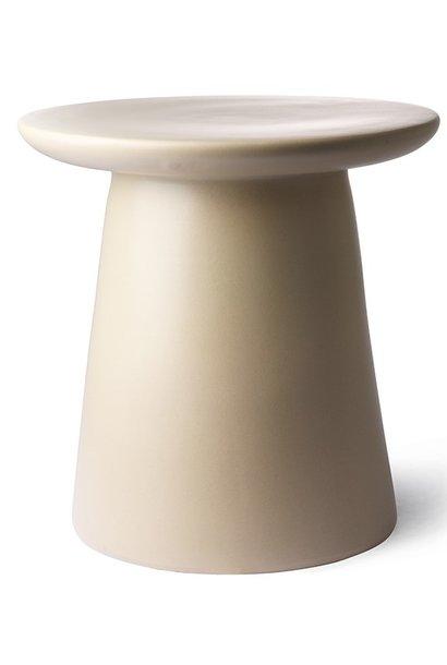 Sidetable earthenware 40x43cm Creme