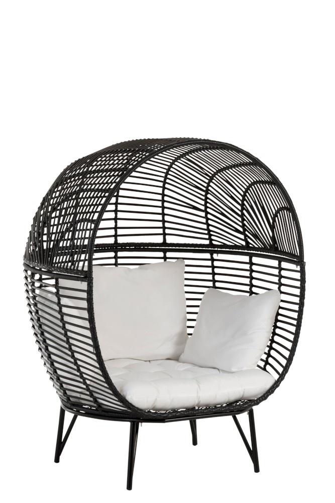 Stoel lounge ovaal 117x110x151cm Black-4