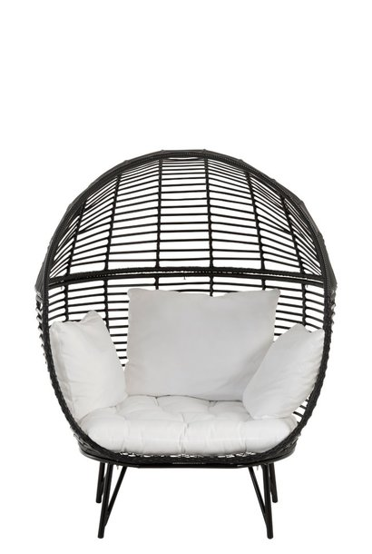 Stoel lounge ovaal 117x110x151cm Black