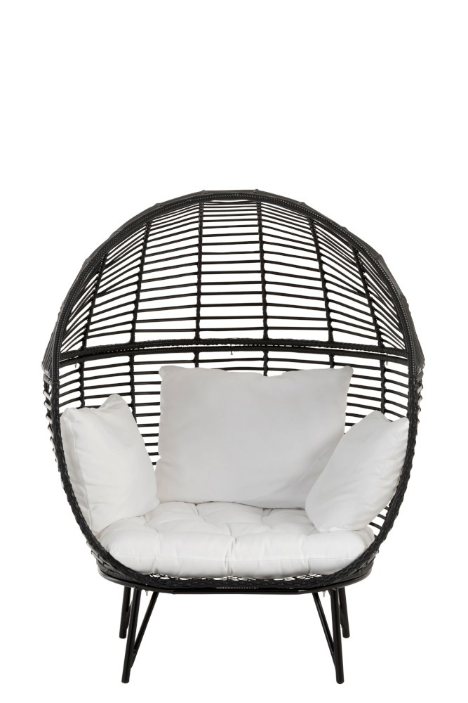 Stoel lounge ovaal 117x110x151cm Black-1