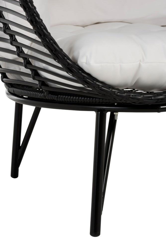 Stoel lounge ovaal 117x110x151cm Black-6
