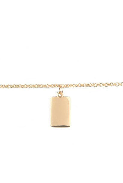 Armband Souvenir Rectangle Gold