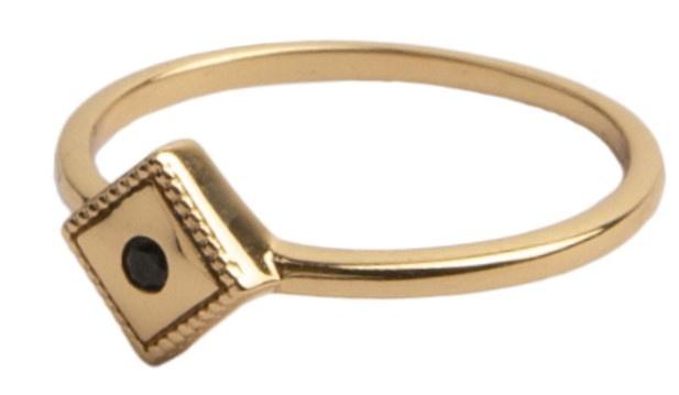 Ring Magique Square Black Gold-4