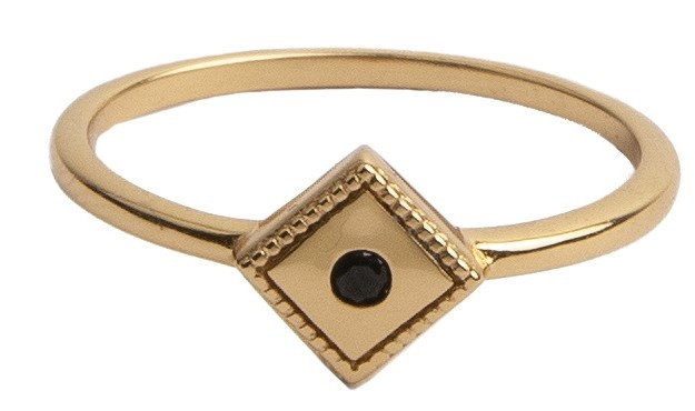 Ring Magique Square Black Gold-1
