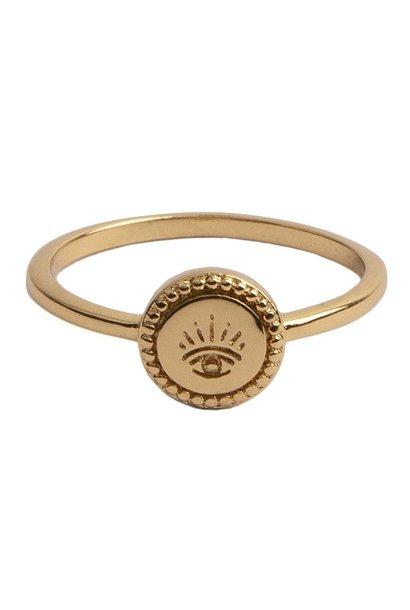 Ring Magique Coin Eye Gold