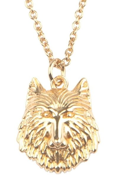 Ketting Souvenir Wolf Gold