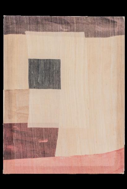 Schiklderij Khadi silk A 50x65cm Creme