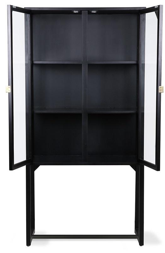 Kast rested showcase black wood 80x36x160cm Black showroom-5