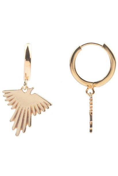 Oorring PER STUK Souvenir Eagle Gold