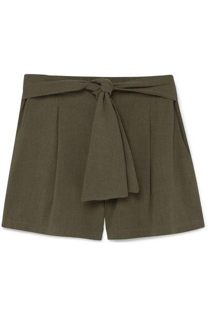Short Lino cintura lazo Safari