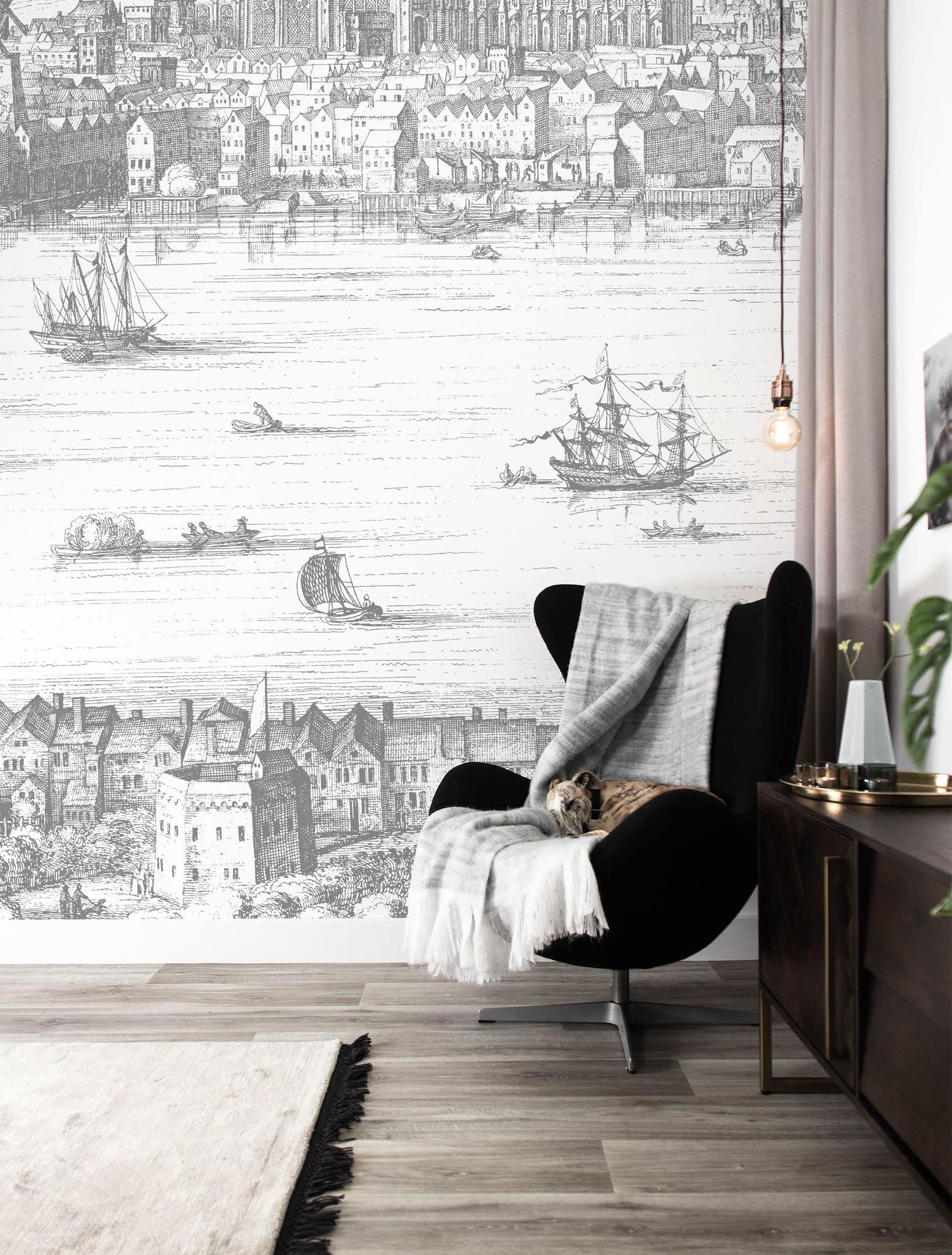 Behang Engraved Landscapes 194.8x280 cm-2
