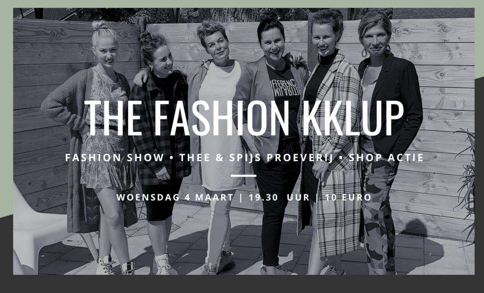 The Fashion Kklup op woensdagavond 4 maart