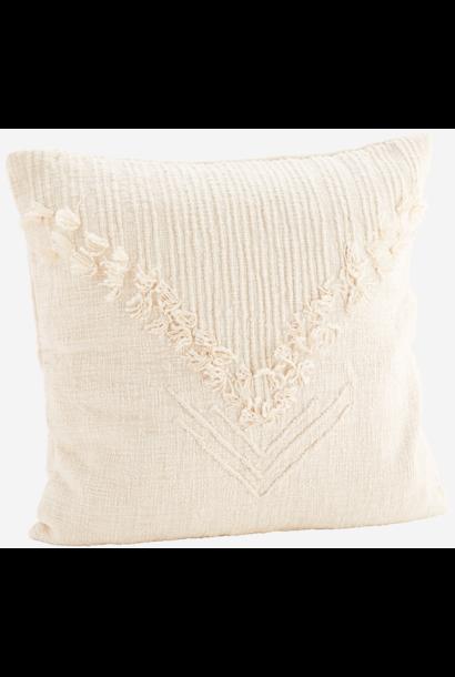 Kussenhoes w/ fringes 50x50cm Off White
